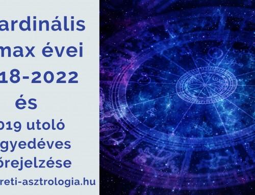 A kardinális klimax évei 2018-2022 és 2019 utolsó negyedéves asztrológiai előrejelzése